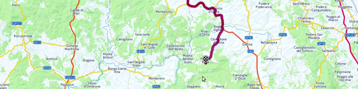 Street map showing the location of Bindozzino Agritourism.